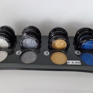 tray mono oogschaduw kleurnummers 1, 2, 3 en 4