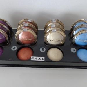 tray cotta satin oogschaduw kleurnummers 2, 4, 5, en 6